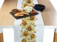 "Table Runner, 100% Polyester, 12x72"", Daffodil Garland"
