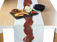 "Table Runner, 100% Polyester, 12x72"", Football Garland"