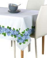 """Rectangular Tablecloth, 100% Polyester, 60x84"""", Forget Me Not Garland"""
