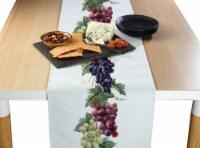 """Table Runner, 100% Polyester, 12x72"""", Grape Vine Garland"""