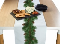 """Table Runner, 100% Polyester, 14x108"""", Pine and Cone Garland"""