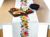 "Table Runner, 100% Polyester, 12x72"", Rose Garden Garland"