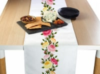 "Table Runner, 100% Polyester, 12x72"", Roses in Bloom Garland"