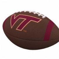 Logo Brands 235-93FC-1 Virginia Tech Team Stripe Official-Size Composite Football - 1