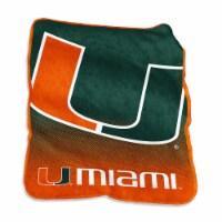 University of Miami Raschel Throw Blanket - 1 ct
