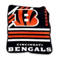 Cincinnati Bengals Raschel Throw Blanket - 1 ct