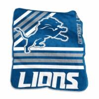 Detroit Lions Raschel Throw Blanket - 1 ct