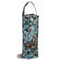 Picnic Plus Coated Canvas Wine Gift Bottle Bag - Cocoa Cosmos