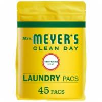 Mrs. Meyer's 45 Load Honeysuckle Clean Day Laundry Pod Detergent 11196
