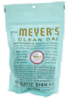 Mrs. Meyer's Basil Automatic Dishwasher Soap 20 Count