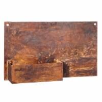 Evergreen Garden Rust Finish Wall Planter