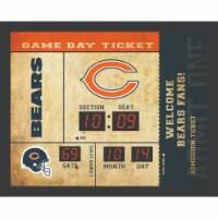 Chicago Bears Bluetooth Scoreboard Wall Clock - 1 ct
