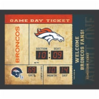 Denver Broncos Bluetooth Scoreboard Wall Clock