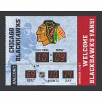 Chicago Blackhawks Bluetooth Scoreboard Wall Clock
