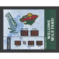 Minnesota Wild Bluetooth Scoreboard Wall Clock - 1 ct