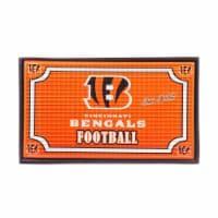 Cincinnati Bengals Embossed Door Mat