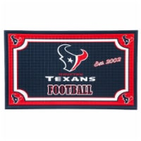 Houston Texans Embossed Door Mat