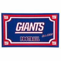 New York Giants Embossed Door Mat