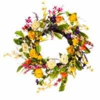Evergreen Garden Spring Floral Wreath