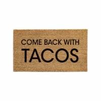Evergreen Garden Come Back With Tacos Coir Mat