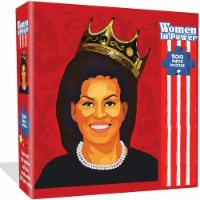 Michelle Obama Jigsaw Puzzle 500pcs Women in Power Illustration Design All Ages Mighty Mojo - 1 unit