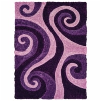 United Weavers of America 2100 21583 58 5 ft. 3 in. x 7 ft. 2 in. Finesse Chimes Violet Recta