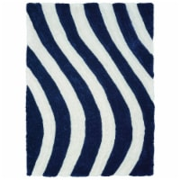 United Weavers of America 2100 21664 24 1 ft. 10 in. x 3 ft. Finesse Streamer Navy Rectangle - 1