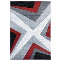 United Weavers of America 2050 10030 28C 2 ft. 7 in. x 7 ft. 4 in. Bristol Zine Red Rectangle