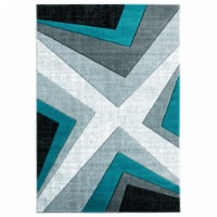United Weavers of America 2050 10069 912 7 ft. 10 in. x 10 ft. 6 in. Bristol Zine Turquoise R