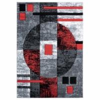 United Weavers of America 2050 10130 69 5 ft. 3 in. x 7 ft. 6 in. Bristol Epsilon Red Rectang
