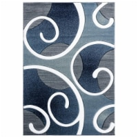 United Weavers of America 2050 10364 69 5 ft. 3 in. x 7 ft. 6 in. Bristol Riley Navy Rectangl - 1