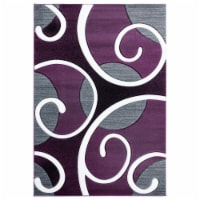 United Weavers of America 2050 10382 69 5 ft. 3 in. x 7 ft. 6 in. Bristol Riley Plum Rectangl