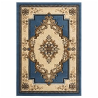 United Weavers of America 2050 10560 69 5 ft. 3 in. x 7 ft. 6 in. Bristol Fallon Blue Rectang