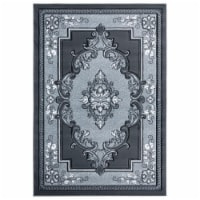 United Weavers of America 2050 10572 69 5 ft. 3 in. x 7 ft. 6 in. Bristol Fallon Gray Rectang - 1