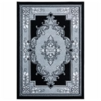 United Weavers of America 2050 10571 24 1 ft. 10 in. x 2 ft. 8 in. Bristol Fallon Silver Rect - 1
