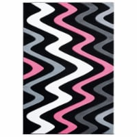 United Weavers of America 2050 11186 35C 2 ft. 7 in. x 4 ft. 2 in. Bristol Embezzle Pink Rect - 1