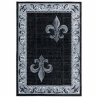 United Weavers of America 2050 11272 912 7 ft. 10 in. x 10 ft. 6 in. Bristol Lilium Gray Rect