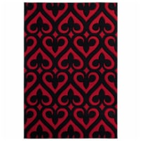 United Weavers of America 2050 11430 35C 2 ft. 7 in. x 4 ft. 2 in. Bristol Heartland Red Rect - 1