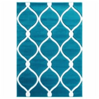 United Weavers of America 2050 11569 35C 2 ft. 7 in. x 4 ft. 2 in. Bristol Rodanthe Turquoise - 1