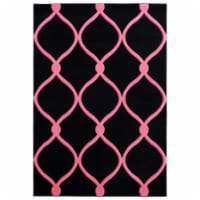 United Weavers of America 2050 11586 69 5 ft. 3 in. x 7 ft. 6 in. Bristol Rodanthe Pink Recta