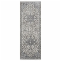 United Weavers of America 4000 40172 28E 2 ft. 7 in. x 7 ft. 2 in. Clairmont Zadar Gray Recta