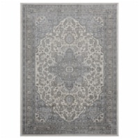 United Weavers of America 4000 40172 912 7 ft. 10 in. x 10 ft. 6 in. Clairmont Zadar Gray Rec - 1