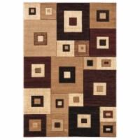 United Weavers of America 2050 10234 69 5 ft. 3 in. x 7 ft. 6 in. Bristol Cicero Burgundy Rec - 1