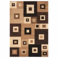 United Weavers of America 2050 10250 69 5 ft. 3 in. x 7 ft. 6 in. Bristol Cicero Brown Rectan - 1