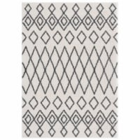 United Weavers of America 1840 20199 359 3 ft. 3 in. x 4 ft. 11 in. Tranquility Tully White R - 1