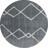 United Weavers of America 1840 20272 88R 7 ft. 10 in. x 7 ft. 10 in. Tranquility Casimir Gray - 1