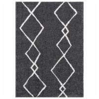 United Weavers of America 1840 20277 58 5 ft. 3 in. x 7 ft. 2 in. Tranquility Casimir Smoke R - 1