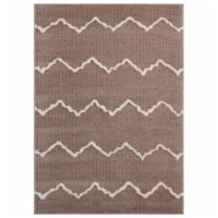 United Weavers of America 1840 20426 58 5 ft. 3 in. x 7 ft. 2 in. Tranquility Galen Beige Rec