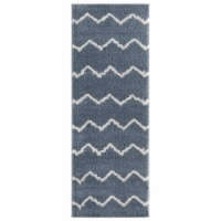 United Weavers of America 1840 20467 28E 2 ft. 7 in. x 7 ft. 2 in. Tranquility Galen Blue & G - 1