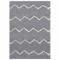 United Weavers of America 1840 20472 58 5 ft. 3 in. x 7 ft. 2 in. Tranquility Galen Gray Rect - 1
